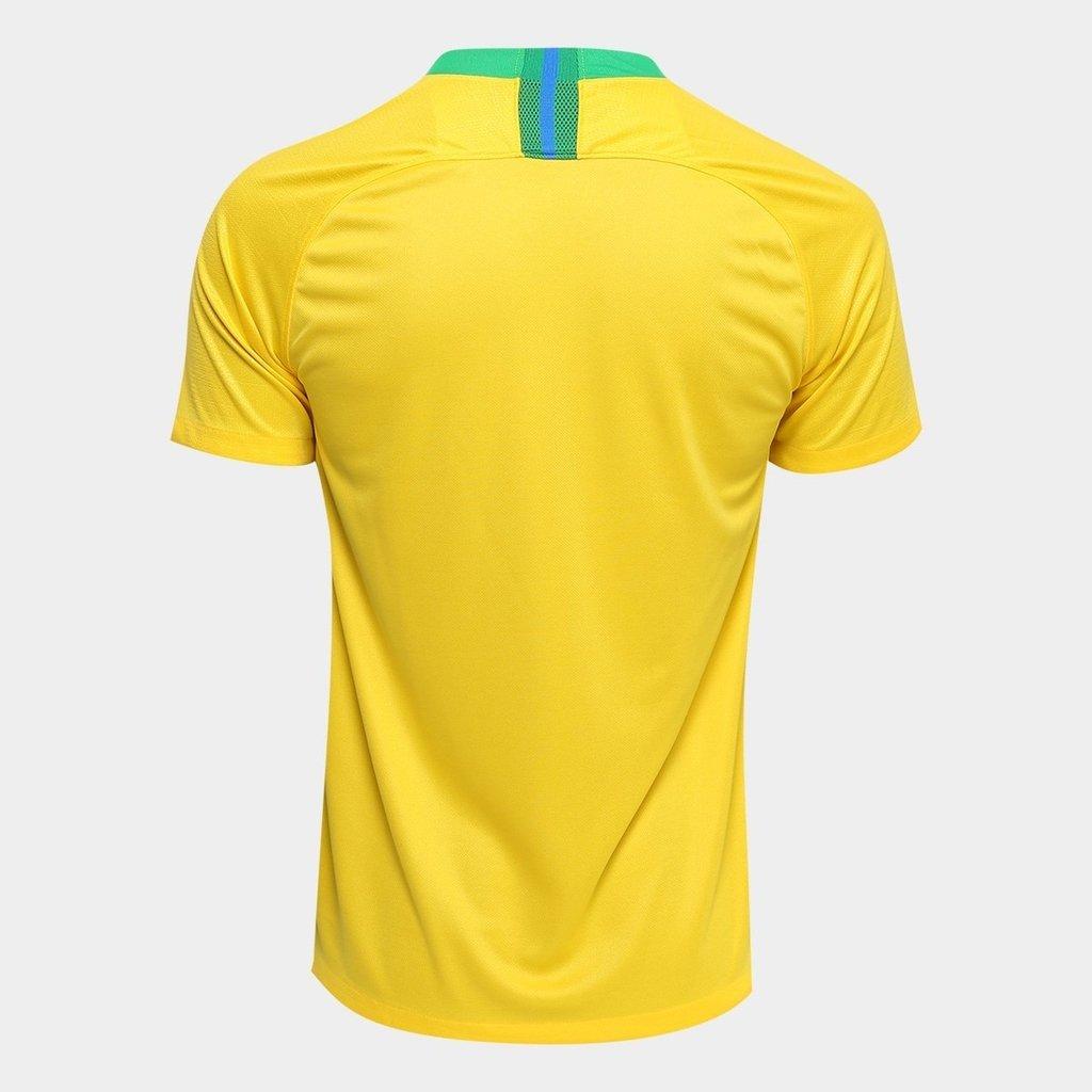 Camisa Seleção Brasil I 2018 s n° - Torcedor Nike Masculina 4b0808fc43616