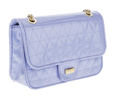 c8a153ebc Bolsa Feminina Mini Bag Envernizada em Matelasse Alça Transversal Fixa -  Azul Claro. 0% OFF. 1