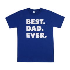 Camiseta BEST DAD EVER Azul Frente