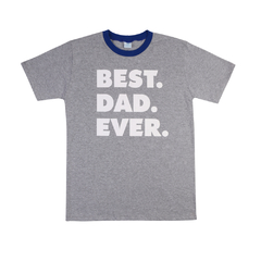 Camiseta BEST DAD EVER Cinza Frente