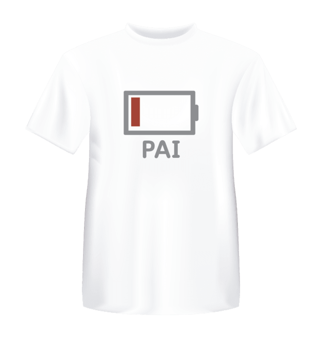 Camiseta Pai Low Battery - comprar online