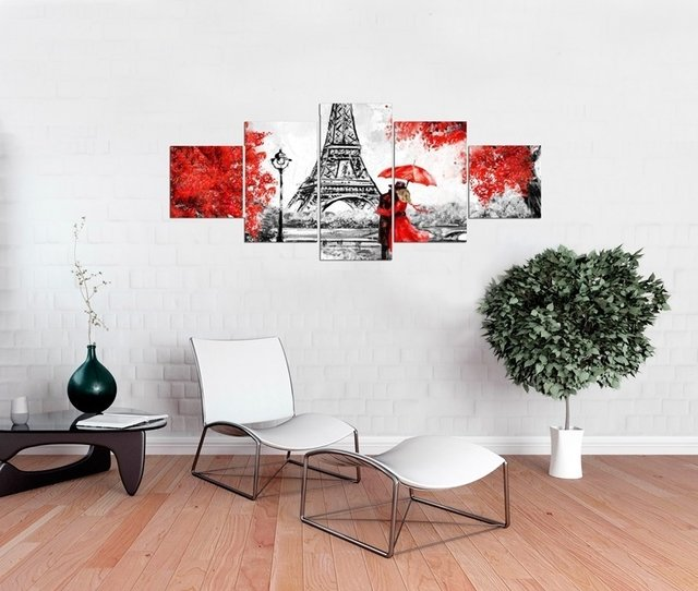 Quadro Decorativo Torre Eiffel Aquarela 05