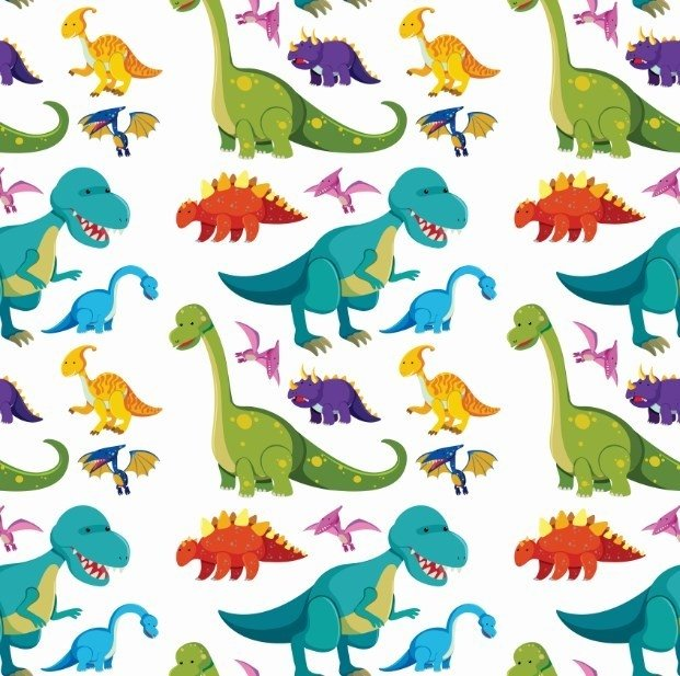 Papel De Parede Infantil Dinossauros Coloridos 41