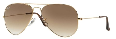 Anteojos Ray Ban Aviador 3025 001/51 MARRON DEGRADE