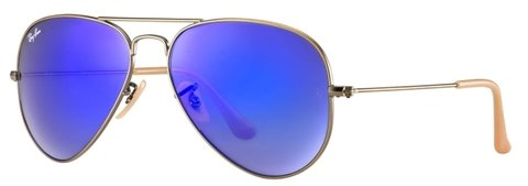 ANTEOJOS DE SOL RAY BAN AVIADOR 112/17 AZUL ESPEJADO BLUE FLASH