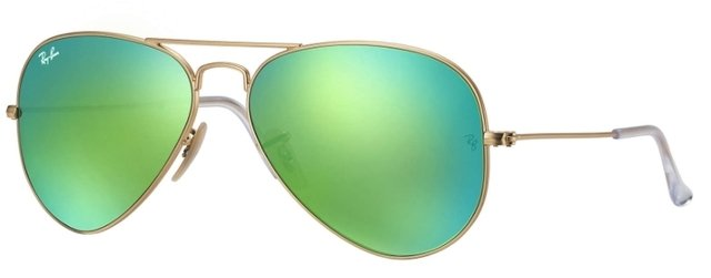 ANTEOJOS DE SOL RAY BAN AVIADOR 112/19 VERDE ESPEJADO GREEN FLASH