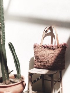Weaving leather bag - carolita Home