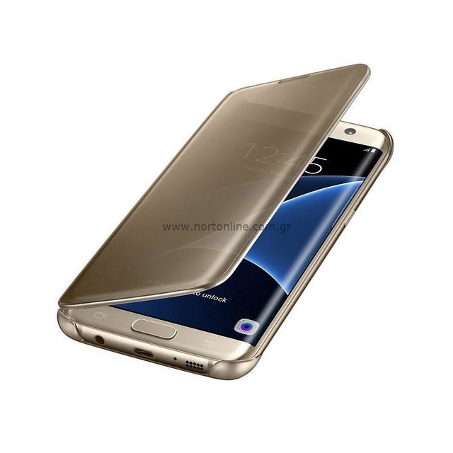 Funda Original Samsung S7 Edge Dorado Clear View Cover gold - comprar online