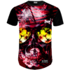 Camiseta Caveira Floral Red
