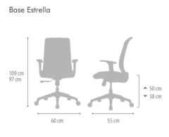 Sillon Big High Basculante Avanzado Negra - The Human Company