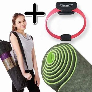 Kit Fitness Premium Mat Yoga Eco Pilates + Anillo Flex Aro