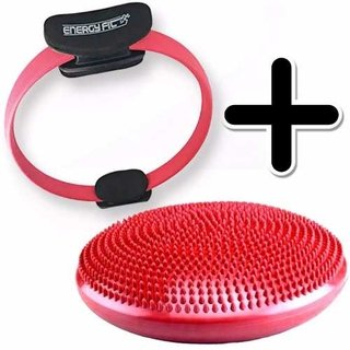 Kit Fitness Anillo Flex Pilates Aro + Disco Bosu Equilibrio