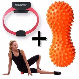 Kit Fitness Anillo Flex Pilates Aro + Pelota Mani Piches