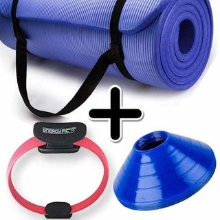 Kit Fitness Mat Yoga Pilates + Flex Ring + Cono Tortuga X 1