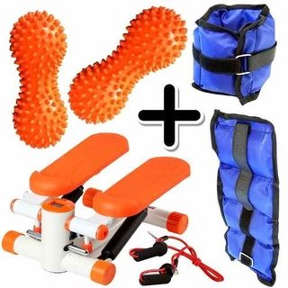 Kit Fitness Mini Stepper + Pesa Tobillera 1kg + 2 Mani Picos