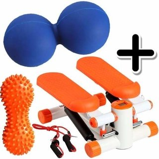 Kit Fitness Mini Stepper + Pelota Mani Picos + Mani Maciza