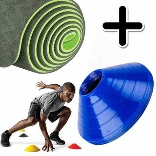 Kit Fitness Premium Mat Yoga Eco Pilates + Cono Tortuga X 1