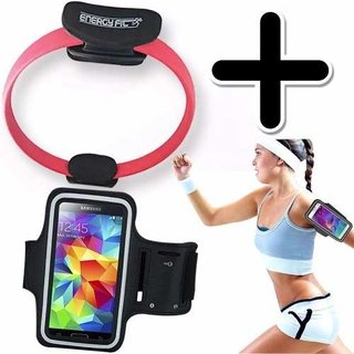 Kit Fitness Anillo Flex Pilates + Funda Brazalete Celular
