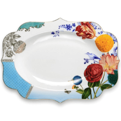 Fuente Ovalada Porcelana Royal Collection I 40 cm I