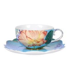 Taza de Te y plato de Porcelana Royal Collection I 225 ml I