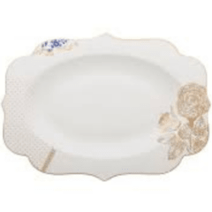 Fuente ovalada de Porcelana Royal White Collection I 40 cm I