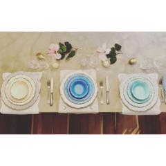 Set de Melamina Color Aqua - Pick a Plate