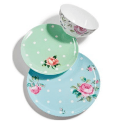Set de 4 Platos de Postre de Melamina Royal Albert en internet