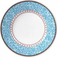 Plato Principal Azul Floral Collection I 26,5 cm I