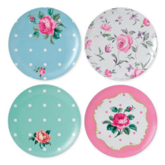 Set de 4 Platos de Postre de Melamina Royal Albert