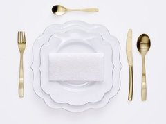 Plato de Postre Blanco Liso Royal White Collection I 23,5 cm I en internet