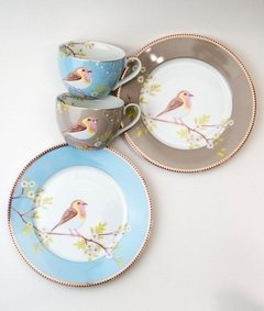 Plato Postre Khaki Floral Collection I 21 cm I - Pick a Plate