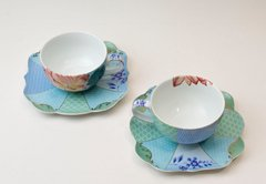 Taza de Te y plato de Porcelana Royal Collection I 225 ml I - Pick a Plate