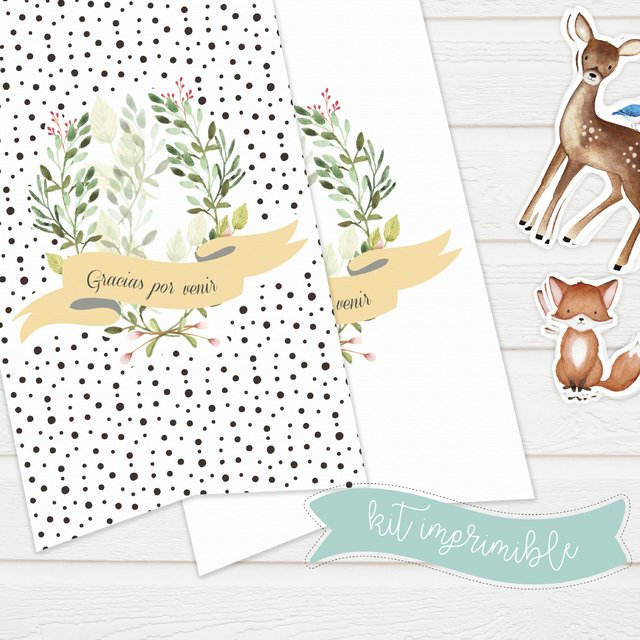 KIT IMPRIMIBLE EXPRESS BOSQUE - Rayo en papel