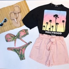 Blusa Cropped Ampla Hollywood