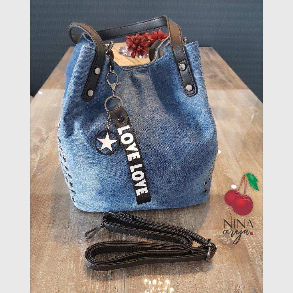 53f9bff25c7c2 Bolsa Jeans Love Saco - Comprar em NinaCereja
