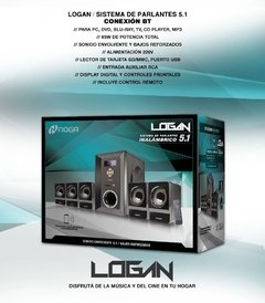 Home Theater Parlantes Pc Bluetooth Usb 5.1 Noga Logan 5000 - Exclusive Shop