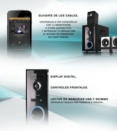 Home Theater Parlantes Pc Bluetooth Usb 5.1 Noga Logan 5000 en internet