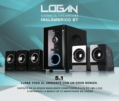 Home Theater Parlantes Pc Bluetooth Usb 5.1 Noga Logan 5000 - comprar online