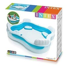 Piscina Inflable Familiar Intex Portavasos Y Asientos 56475 - Exclusive Shop