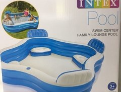 Piscina Inflable Familiar Intex Portavasos Y Asientos 56475