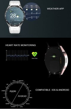 Smart Watch Kingwear Kw88 Gps Wifi Bluetooth Android 5.1 3g - Exclusive Shop