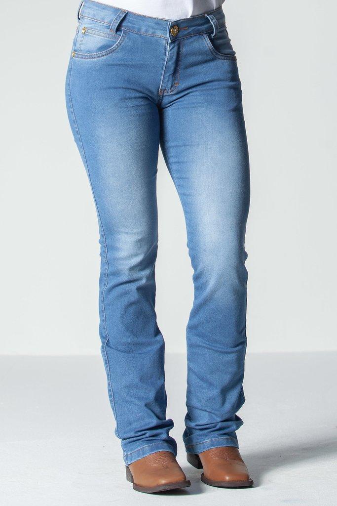 be350ce9a Calça Jeans Feminina Flare -Stoney Wash - Texas Road