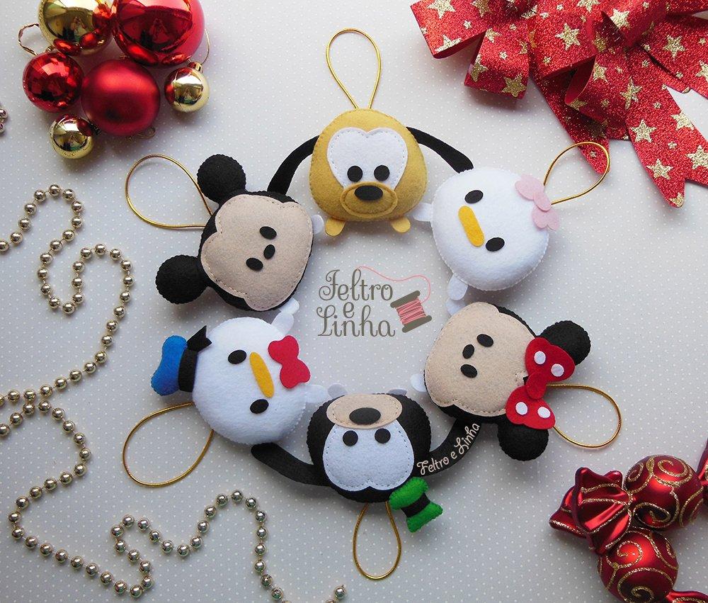 cacb98e714 Pingente para Árvore de Natal Disney - Feltro e Linha