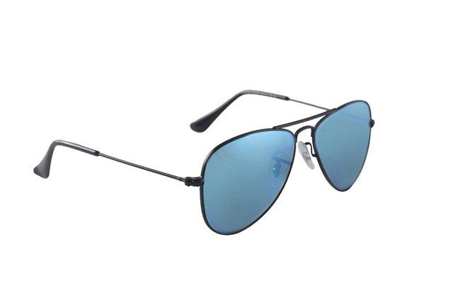 73a3664405729 ... Imagem do Óculos de Sol Infantil Ray Ban Aviator Junior RJ 9506S 201 55  ...
