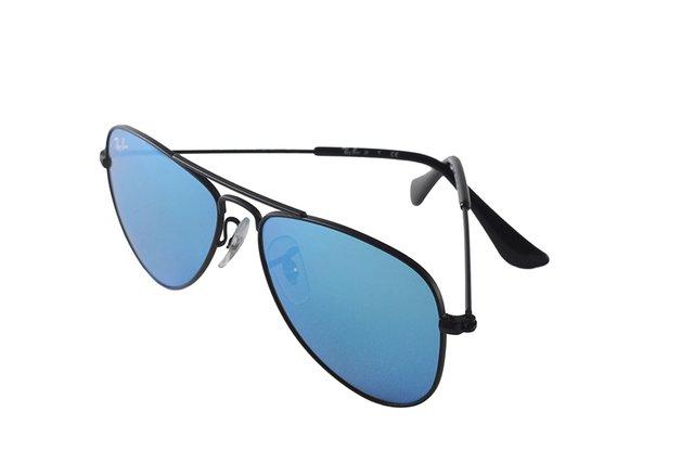 07beb51a6005a ... Óculos de Sol Infantil Ray Ban Aviator Junior RJ 9506S 201 55 - Óptica  Mezzon ...