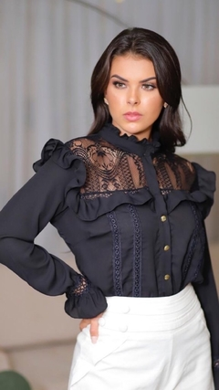 Blusa babado lace touch - comprar online