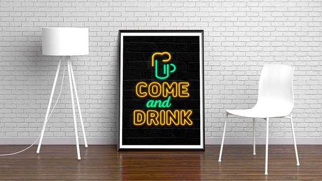 NEON COME AND DRINK - comprar online