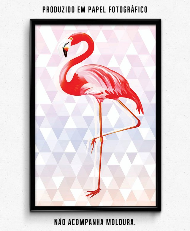 FLAMINGO - Fundo Poligonal