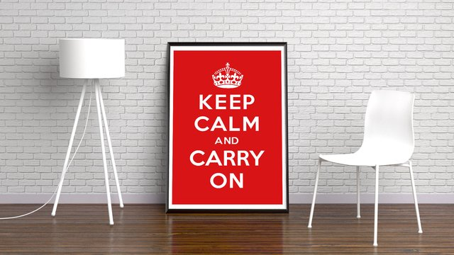 KEEP CALM and CARRY ON na internet