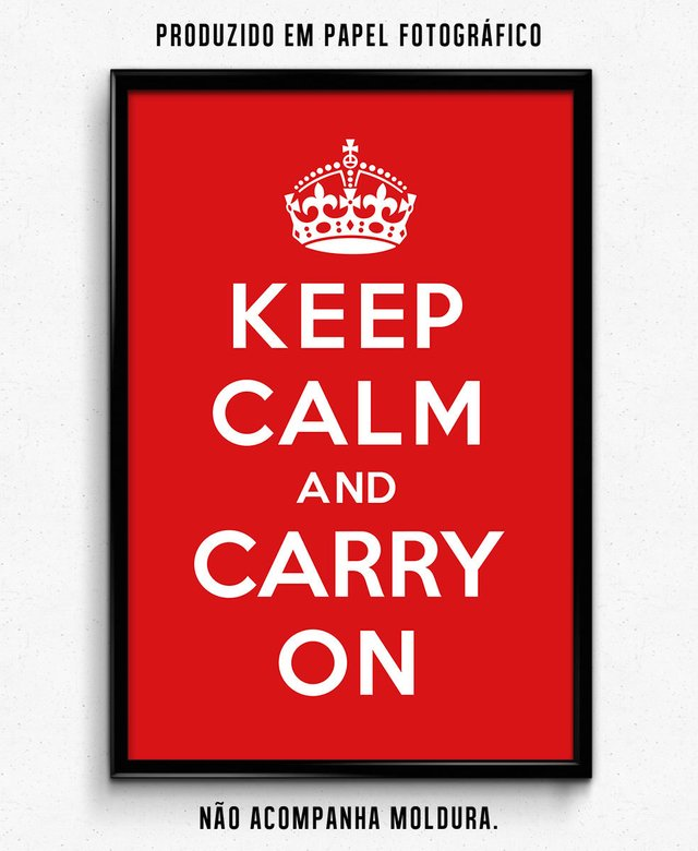 KEEP CALM and CARRY ON - comprar online